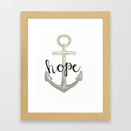 Hope, we have this hope as an anchor for the soul, Hebrews 6:19 Framed Art Print
