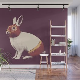 Lapin Catcheur (Rabbit Wrestler) Wall Mural