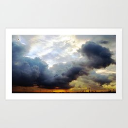 rotterdam sunset II. Art Print