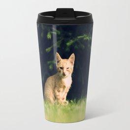 One Eyed Cat Travel Mug