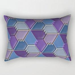 Blues & Purples Rectangular Pillow