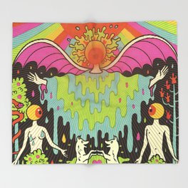 The Flaming Lips - With a Little Help From My Fwends Throw Blanket