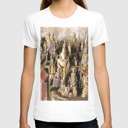 Buddha statues, Pak Ou Caves, Laos T-shirt