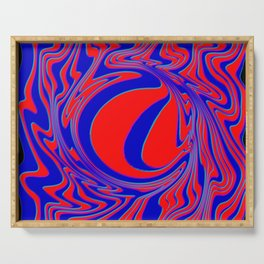 thrust, red and blue Serving Tray