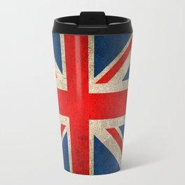 Old and Worn Distressed Vintage Union Jack Flag Travel Mug