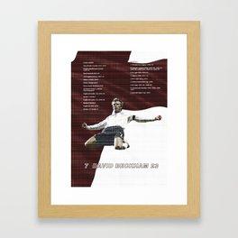 David Beckham.  Framed Art Print