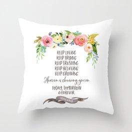 Elder Jeffrey R. Holland - Heaven is Cheering You On Throw Pillow