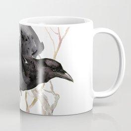 Flying Raven Art, raven crow tribal design Coffee Mug