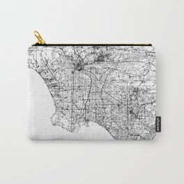 Abstract Map of Los Angeles, California Carry-All Pouch