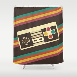 Retro Video Game 2 Shower Curtain