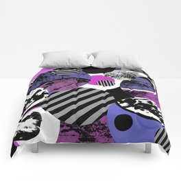 an-ARC-hy! (Abstract, geometric, sphere, circle, pop art, chaotic, eclectic, random artwork) Comforters