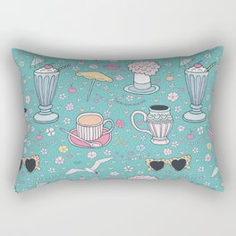 French Riviera of the 50s Rectangular Pillow