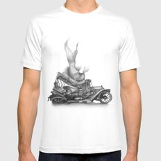 In which a goldfish spoils an outing Mens Fitted Tee MEDIUM White