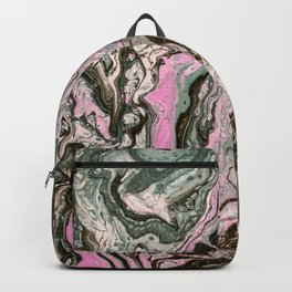 Dirty Acrylic Paint Pour 34, Fluid Art Reproduction Backpack
