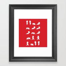 Yoga Bear - Polar Bear Framed Art Print