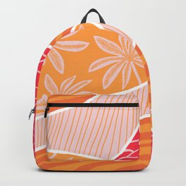 kauai, orange Backpack