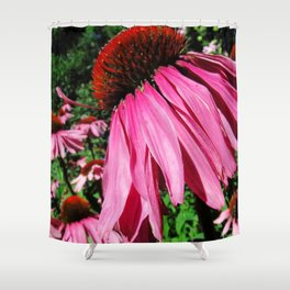Fuchsia Fields Shower Curtain