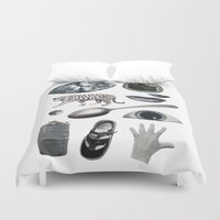 grey Duvet Covers featuring GREY by Beth Hoeckel