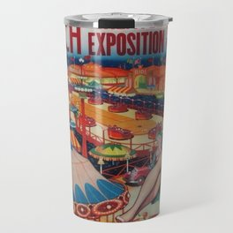 1946 Greater Exposition Traveling Circus Show Vintage Poster Travel Mug