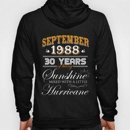 September 1988 Gifts 30 Years Anniversary Celebration Hoody