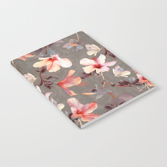 Coral Hibiscus Notebook