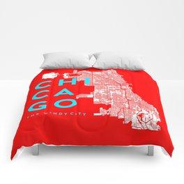 Chicago Map Comforters