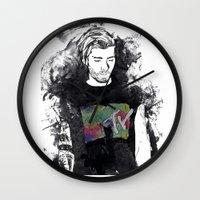 1d Wall Clocks featuring Zayn Malik 1D by Mariam Tronchoni