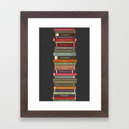 Ghostbusters stacked books Framed Art Print
