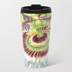 Passion Flower Metal Travel Mug