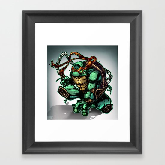 COWABUNGA Framed Art Print
