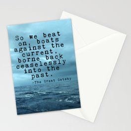 So we beat on - Gatsby quote on the dark ocean Stationery Cards
