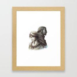 The Witcher 3 - Ciri / Geralt Artwork Framed Art Print
