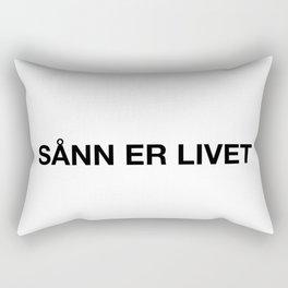 Sånn er livet Rectangular Pillow