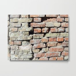 Texture wall brick and stone Metal Print