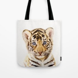Baby Tiger, Baby Animals Art Print By Synplus Tote Bag
