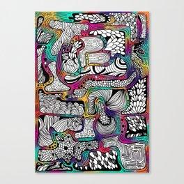 El reflejo en color Canvas Print