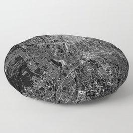 Salt Lake City Black Map Floor Pillow