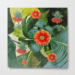 Tropical palm leaf flower Hawaii dreaming Metal Print