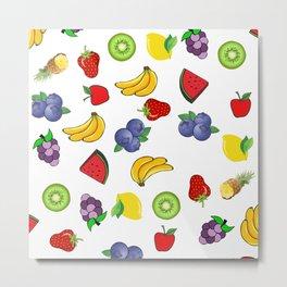 Patrón de frutas Metal Print