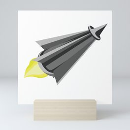 Cone Rocket Mini Art Print