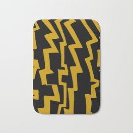 Thunder and abstraction 5-thunderbolt,thunder,storm,fire,ligthning,electric,rumble Bath Mat