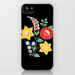 Hungarian placement print - black iPhone Case