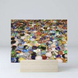 Marbles as far as the eyes can see Mini Art Print