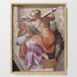 The Libyan Sybil Sistine Chapel Ceiling by Michelangelo Serving Tray