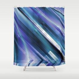 Frozen Circuit Shower Curtain