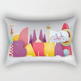 Barcelona ilustrada Rectangular Pillow