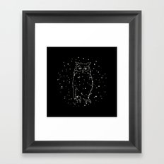 Owl Constellation Framed Art Print