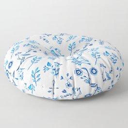 Ceramic Portuguese -Pattern Floor Pillow
