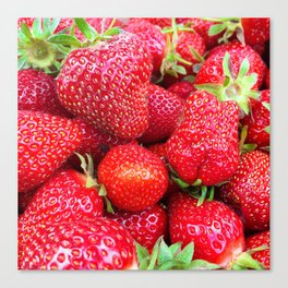 Close-up of Fresh Strawberries Canvas Print