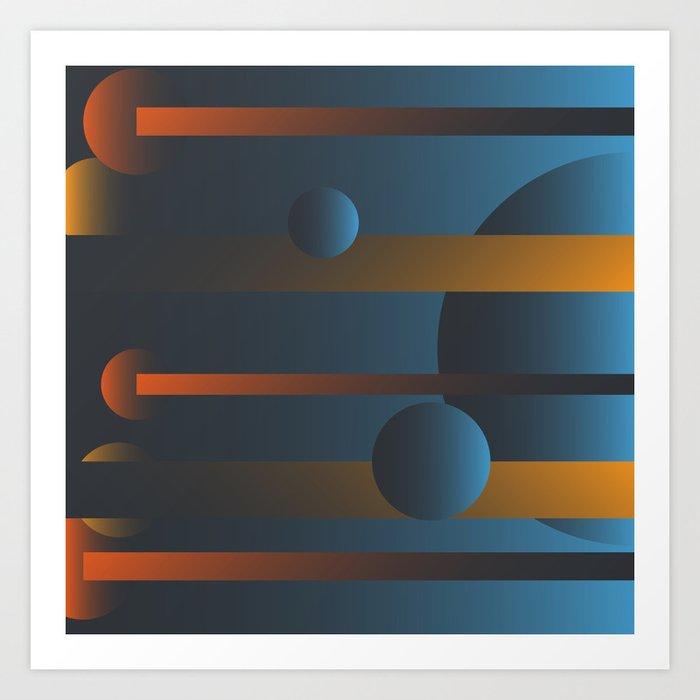 Mandarin Blue Art Print